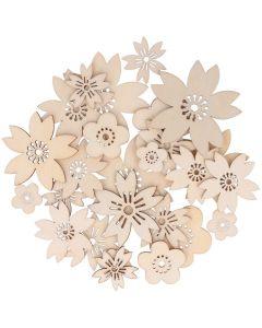 Houten bloemen 30 stuks Japan