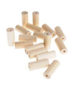 Houten kralen cilinder 20 x 8,6 mm 25 stuks