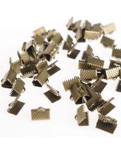 Platte klemmen 10 mm 60 stuks antiek goud