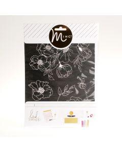 Minc zeefdruksjabloon bloemen