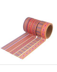 Washi tape 5 stuks 15 mm x 5 m koper