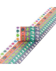 Washi tape 5 stuks 15 mm x 5 m alpaca