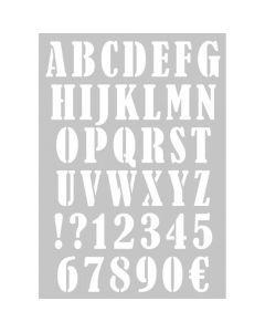 Sjabloon A3 alfabet