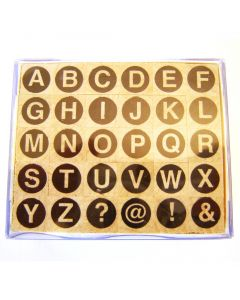 Stempelset alfabet rond hoofdletter 0,5 cm