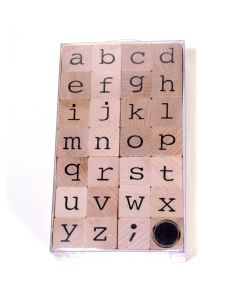 Stempelset alfabet kleine letters 2 cm