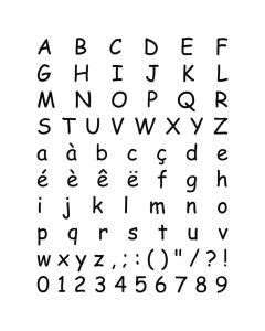 Stempelset transparant alfabet