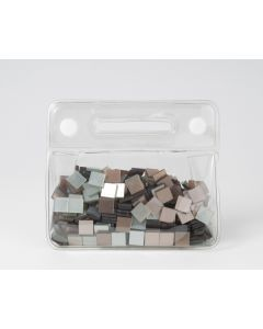 Mozaïek glans 10 x 10 mm 150 g assortiment brons