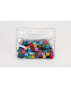 Mozaïek glitter 10 x 10 mm 150 g assortiment basis