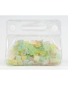 Mozaïek gelly 10 x 10 mm 150 g assortiment pastel