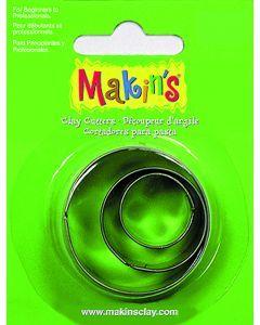 Makin's uitsteekvorm 3 stuks 2 - 3 - 4 cm rond