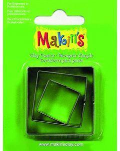 Makin's uitsteekvorm 3 stuks 2 - 3 - 4 cm vierkant