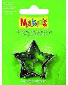 Makin's uitsteekvorm 3 stuks 2 - 3 - 4 cm ster