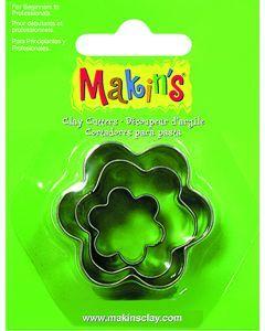 Makin's uitsteekvorm 3 stuks 2 - 3 - 4 cm bloem