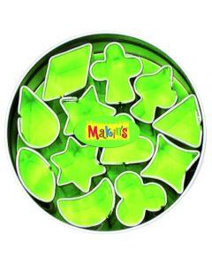 Makin's uitsteekset 12 stuks diverse minivormen 1 - 2 cm