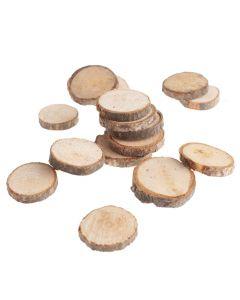 Houten boomschijfjes 3-4 cm 180 g
