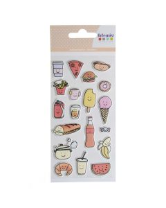 Puffy stickers So Cute Food