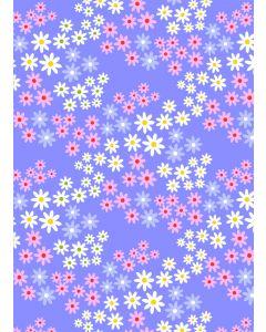 Stof katoen 45 x 55 cm Alice lila bloemetjes