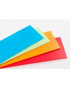 Plastic vel mat 0,5 mm 32 x 55 cm groen