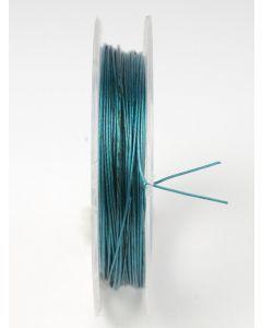 Nyloncoated draad 10 m turkoois