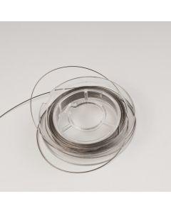 Nyloncoated draad 10 m metaalkleur