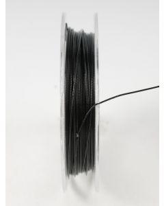 Nyloncoated draad 10 m zwart