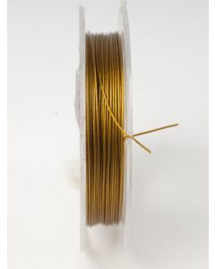 Nyloncoated draad 10 m oud goud