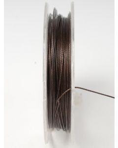 Nyloncoated draad 10 m bruin