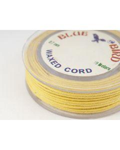 Katoenwaxkoord 0,7 mm 10 m geel