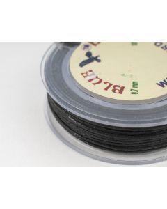 Katoenwaxkoord 0,7 mm 10 m zwart
