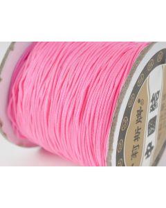 Polyester koord 100 m fluo roze