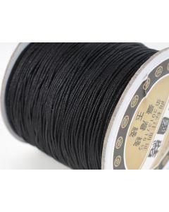 Polyester koord 100 m zwart