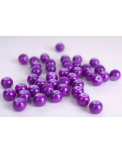 Glasparel 6 mm opaak ca. 60 stuks violet