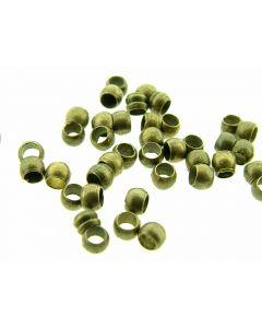 Knijpkraal 2 mm 144 stuks antiek goud