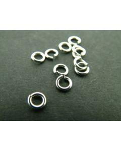 Oogje 5 mm antiek zilver 5 g