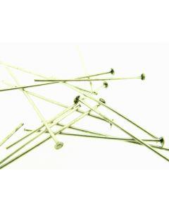 Kettelstift T-pen 30 mm antiek zilver 5 g