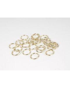 Oogje 10 mm goud glanz. 5 g (30 stuks)