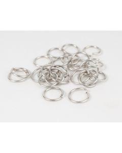 Oogje 10 mm antiek zilver 5 g (30 stuks)