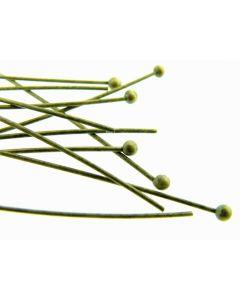Bol-pen 50 mm 25 stuks antiek goud