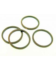 Schakel rond 20 mm 10 stuks antiek koper
