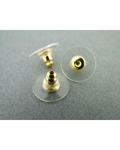 Stopper voor oorhanger 12 mm 4 stuks rubber/zilver