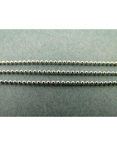 Ketting bolletjes 1 mm 2 m zilver glanzend