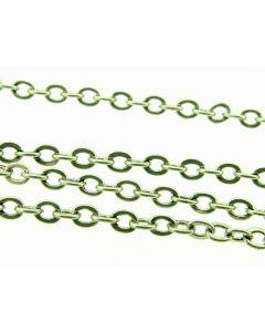 Ketting fijn ovaal 3 mm 2 m antiek zilver