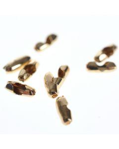 Sluiting voor bolletjesketting 1 mm 5 stuks goud glanzend