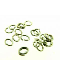 O-ring ovaal 4 x 5 mm 5 g antiek zilver