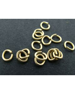 O-ring ovaal 4 x 5 mm 5 g mat goud