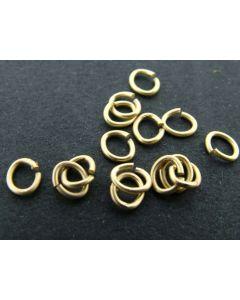 O-ring ovaal 4 x 5 mm 5 g mat goud