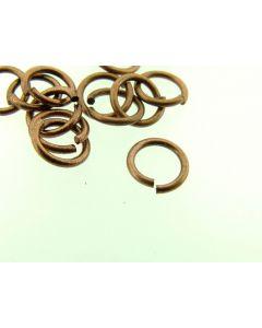 O-ring 7 x 1 mm 5 g antiek koper