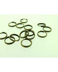 Spiraalring 7 mm 25 stuks antiek goud