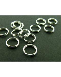 Spiraalring 7 mm 25 stuks zilver glanzend