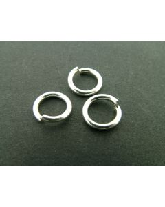 O-ring 10 x 1,5 mm 10 stuks zilver glanzend